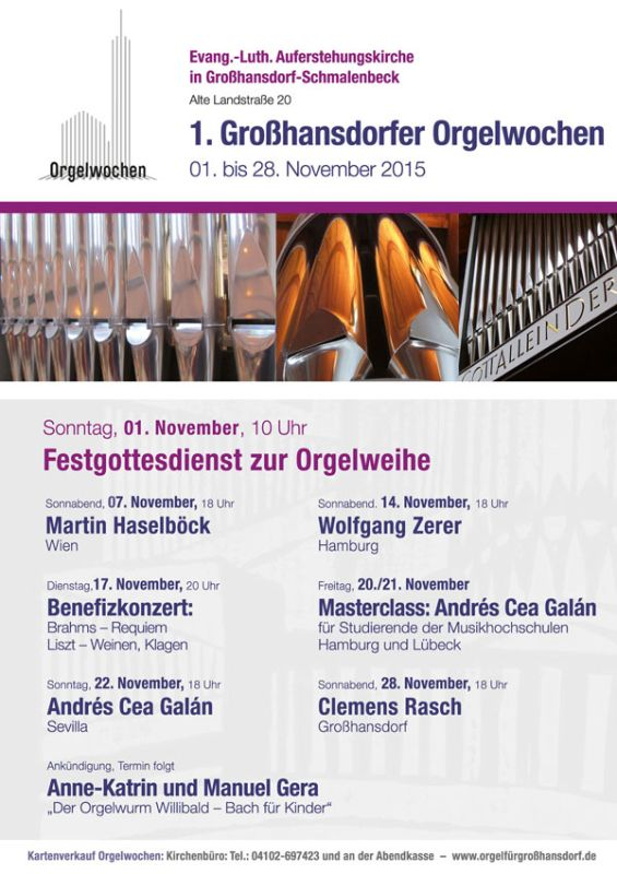 Organ Weeks in Grosshansdorf